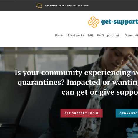 The Get-Support Tool is a Way to Get/Give Support in Your Local Community