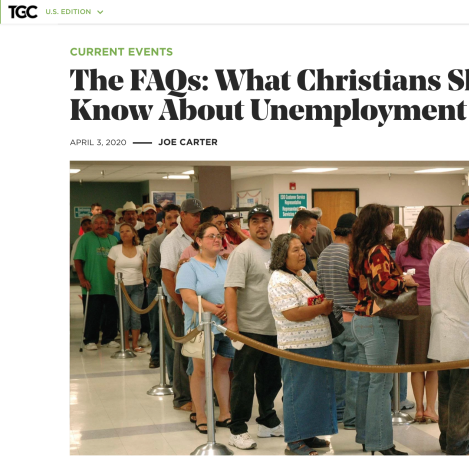 The FAQs: What Christians Should Know About Unemployment