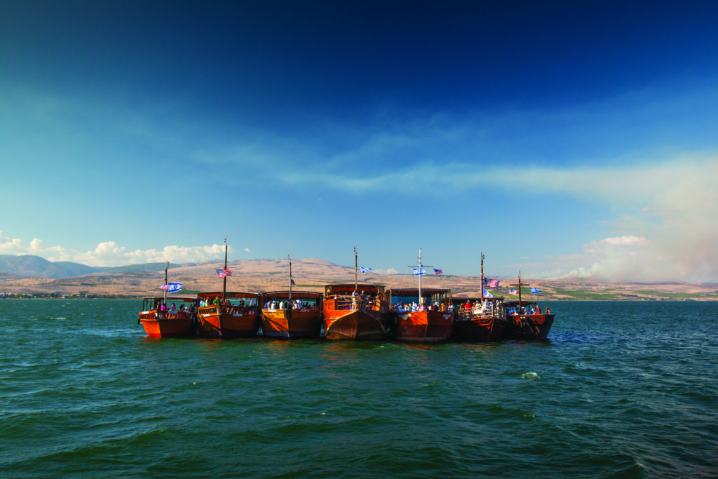 Boats on the Sea of Galilee